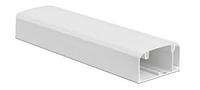 Кабель-канал 90х50 мм, с перегородкой, боковой и фронтальной крышками, фото 1