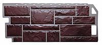 Фасадные панели Коричневый 1130x470 мм Камень FINEBER