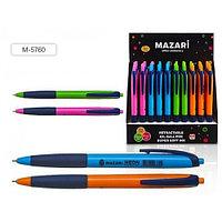 """Ручка шариковая MAZARI """"NEON"""" автоматическая, 0,7 мм, синяя  M-5760/BU"""