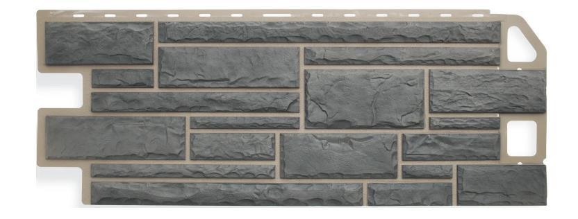 Фасадные панели Серо-зеленый 1130x470 мм Камень FINEBER