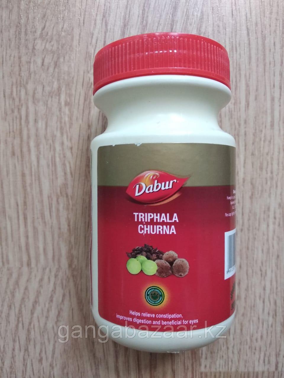Трифала чурна (Triphala Churna Dabur) -  для ЖКТ, кожи,очищение прямой кишки, оздоровление, 120 гр