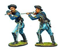 Коллекционный солдатик, Гражданская война США, Спешившийся Кавалерист с карабином