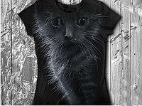 """""""Котёнок"""" Женская футболка тотальная"""