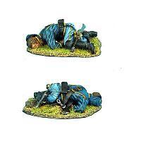 Коллекционный солдатик, Гражданская война США, Спешившийся убитый Кавалерист