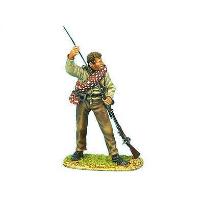 Коллекционный солдатик, Гражданская война США, Пехотинец 13-го Алабамского полка, заряжает ружьё