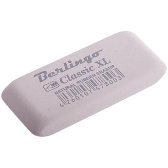 """Ластик Berlingo """"Classic XL"""", прямоугольный, каучук, 60*25*9мм"""