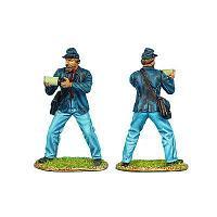 Коллекционный солдатик, Гражданская война США, Солдат Артиллерии Конфедерации, подающий снаряд