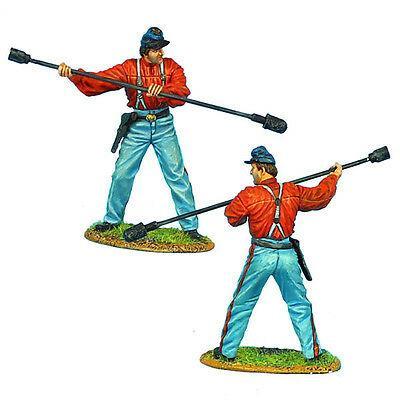 Коллекционный солдатик, Гражданская война США, Солдат Артиллерии Конфедерации, с банником