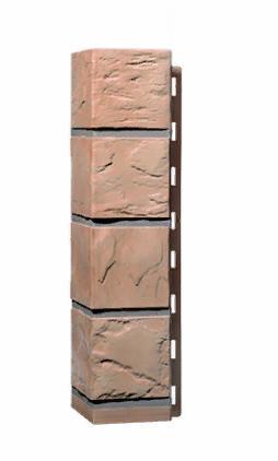 Угол Наружний Терракотовый 470х115х115 мм Камень FINEBER