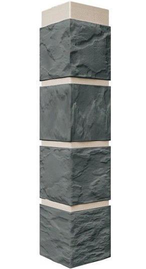 Угол Наружный Серо-зеленый 470х115х115 мм Камень FINEBER