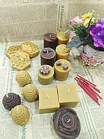 Свечи медовые из натурального воска. Ручная работа, фото 1
