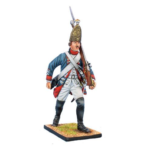 Коллекционный солдатик, Семилетняя война. Прусский Гренадер, на марше №4