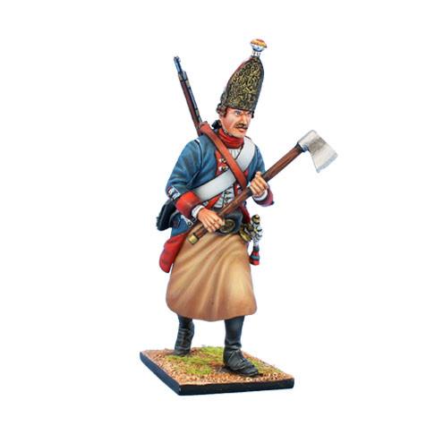 Коллекционный солдатик, Семилетняя война. Прусский Сапер гренадеров, с топором