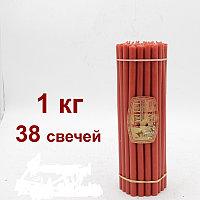 Алтарные красные восковые свечи  горят 3часа 30 мин ЦЕНА ОТ 150 ТЕНГЕ Длина свечи  265мм, фото 1