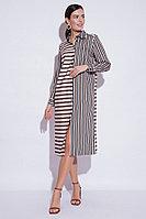 Летнее платье, вискоза, 44-52, черно-пудровый