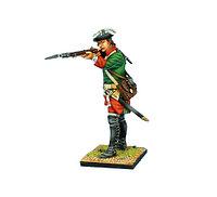 Коллекционный солдатик, Семилетняя война. Мушкетер Российской Империи, стреляющий