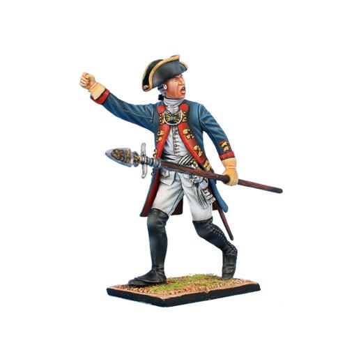 Коллекционный солдатик, Семилетняя война. Прусский Гренадерский офицер, на марше