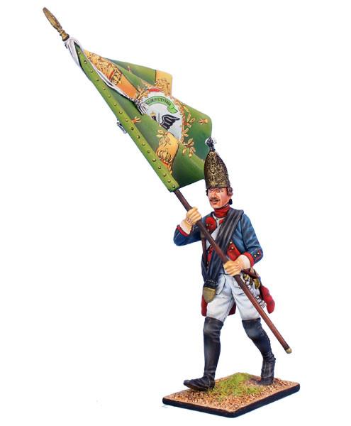 Коллекционный солдатик, Семилетняя война. Прусский Гренадерский унтер-офицер, знаменосец