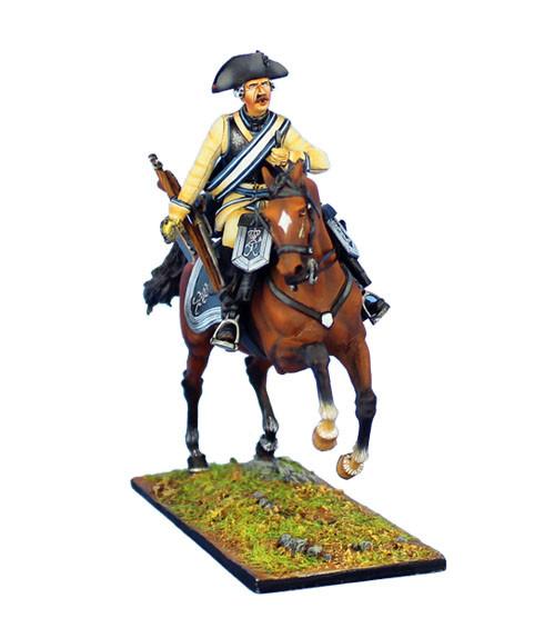 Коллекционный солдатик, Семилетняя война. Конный Прусский Кирасир, заряжающий мушкет №3