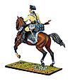 Коллекционный солдатик, Семилетняя война. Конный Прусский Кирасир, заряжающий мушкет №3, фото 3