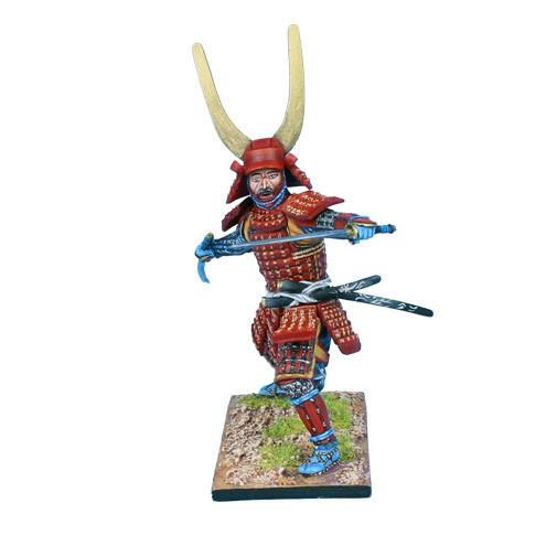 Коллекционный солдатик, Эпоха самураев. Самурай сражающийся двумя катанами
