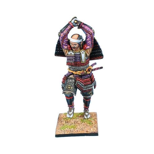 Коллекционный солдатик, Эпоха самураев. Самурай атакующий катаной