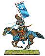 Коллекционный солдатик, Эпоха самураев. Конный самурай с катаной и Сасимоно -  Род Такэда, фото 3