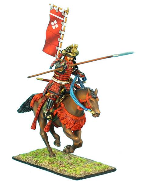 Коллекционный солдатик, Эпоха самураев. Конный самурай с Яри и Сасимоно -  Род Такэда