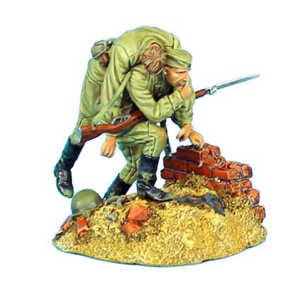 Коллекционный солдатик, Сталинградская битва Советский солдат, несущий раненого товарища
