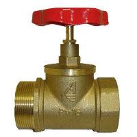 Клапан пожарного крана прямой КПЛП-65 (125) (муфта/цапка) Латунь