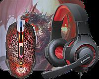 Комплект игровой Defender DragonBorn MHP-003 (Мышь+Гарнитура+Коврик), фото 1