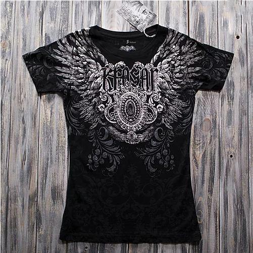 """""""Чёрный ангел"""" Женская футболка тотальная"""