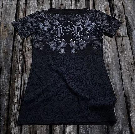 """""""Серебряная рысь"""" Женская футболка тотальная, фото 2"""