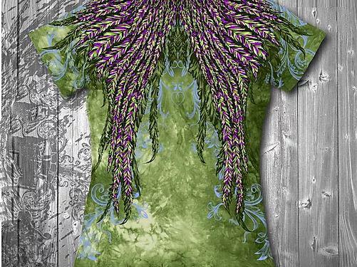 """""""Колибри"""" Женская футболка тотальная, фото 2"""