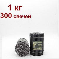 Свечи из буро-чёрной восковой мервы  горят 35 мин цена от 18тг за 1 шт Длина свечи 160мм, фото 1