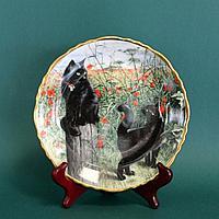 «Черные кошки» Коллекционная тарелка. Фарфоровая мануфактура Davenport ,Англия