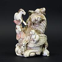 Окимоно Знаки Задиака. Китай, начало ХХ века. Слоновая кость.