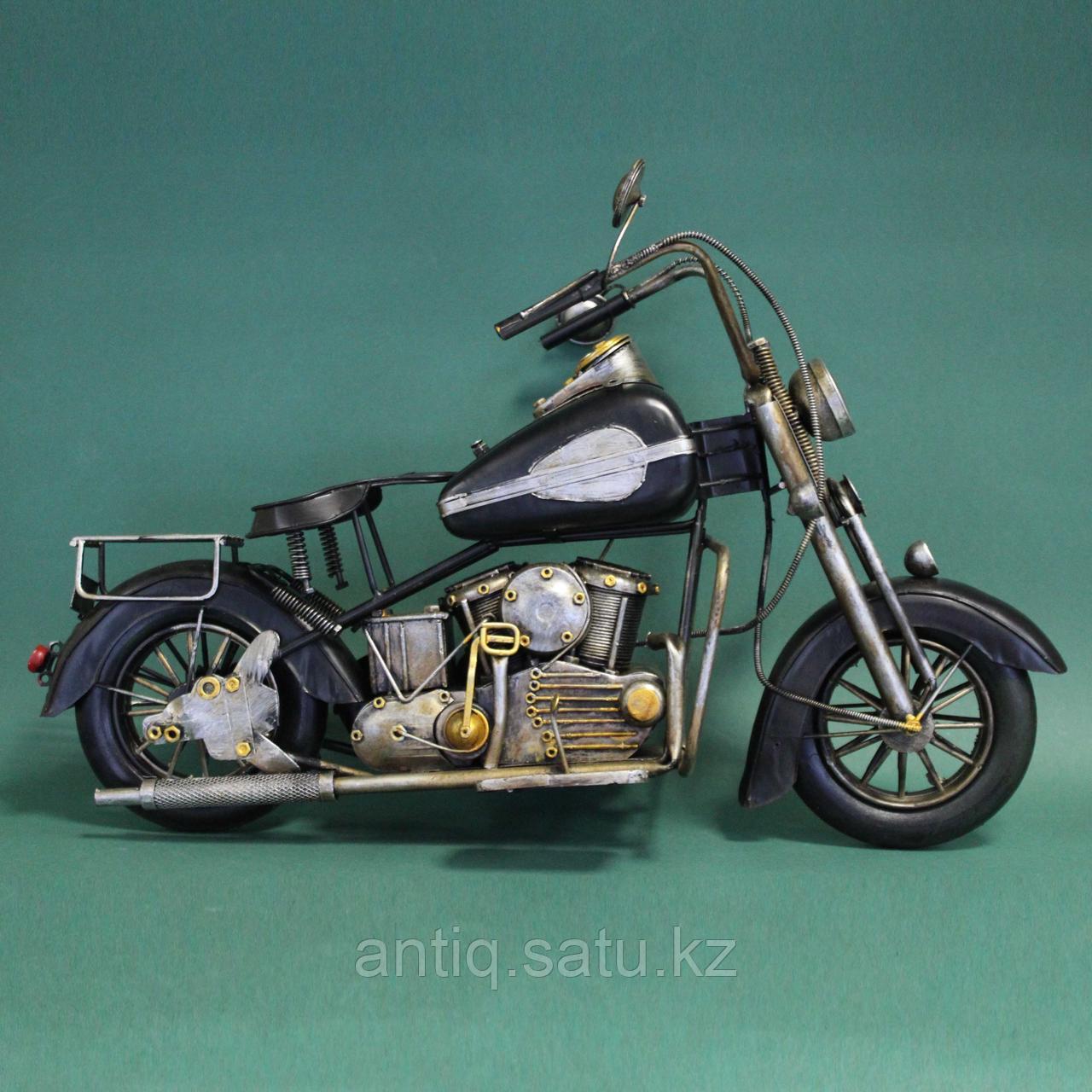 Античная классическая модель мотоцикла Ретро. Металл - фото 1