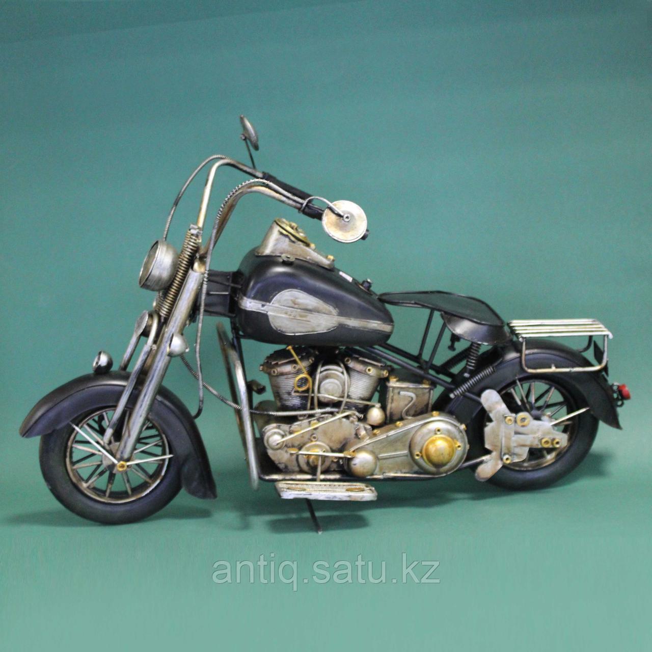 Античная классическая модель мотоцикла Ретро. Металл - фото 2