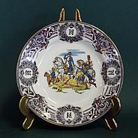 Битва под Фридландом- 1807 год. Редкая коллекционная тарелка из серии Наполеоновских баталий.