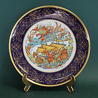 Великолепная большая тарелка из серии «Русские сказки» Фарфоровая мануфактура Hutschenreuther Bavaria