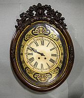 Настенные часы в стиле Наполеона III в технике Буль