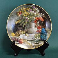 Натюрморт. Подлинная коллекционная тарелка, с персональным номером.
