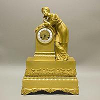 Кабинетные часы в стиле Карла Х с фигурой восточной девушки