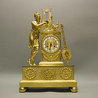 Каминные часы в стиле Ампир «Античный музыкант»