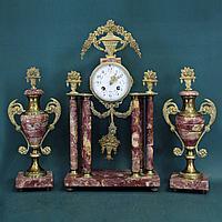 Каминный гарнитур в стиле Людовика XVI Часовая мастерская F. Marti