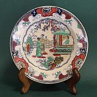 Пара старинных тарелок с китайскими мотивами. Европа. Конец 19- начало 20го века.