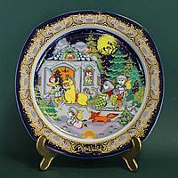 Коллекционная тарелка «Рождественские песни на фарфоре»