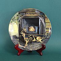 Коллекционная тарелка «У камина» Фарфоровая мануфактура Royal Doulton