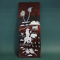 Резная картина дерево и перламутр. Юго- Восточная Азия (Китай или Вьетнам), середина ХХ века.